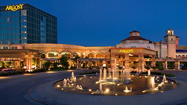 exterior shot of argosy casino