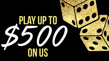 Play up to $500 On us logo